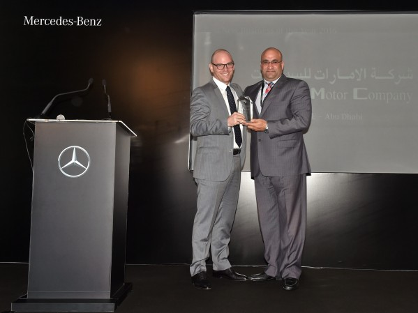 شركة دايملر مرسيدس-بنز تكرم شركة الإمارات للسيارات التابعة لمجموعة الفهيم باثنتين من جوائزها العالمية المرموقة