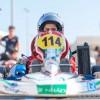 البطل الإماراتي راشد الظاهر يعلى منصة التتويج في نهاية بطولة الإمارات للكارتينج عن فئة الكاديت