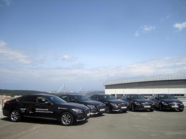 أسطول من سيارات جينيسيس G80الفخمة في خدمةوفود منتدى الشرق الاقتصادي بروسيا