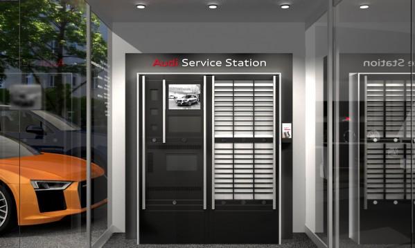 المستوى التالي من خدمات التجزئة الرقمية:  أودي توظف محطة رقمية لإتاحة خدماتها للعملاء على مدار الساعة