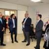 """خلال زيارة قام بها للجامعة ولي العهد يزور مختبر """"زين"""" للاتصالات في جامعة الحسين التقنية"""
