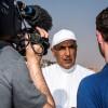 محمد خلفان الرميثي يزور رالي أبوظبي الصحراوي
