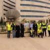 بالتعاون مع الشرطة المجتمعية  مبادرة مجتمع متكافل تدشن شوادر بمستشفى الأمير حمزه