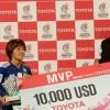 """دعماً للمهارات والمواهب النسوية في رياضة كرة القدم  """"تويوتا"""" تمنح اليابانية مانا إيوابوتشي جائزة """"أفضل لاعبة"""" في بطولة كأس آسيا للسيدات 2018"""