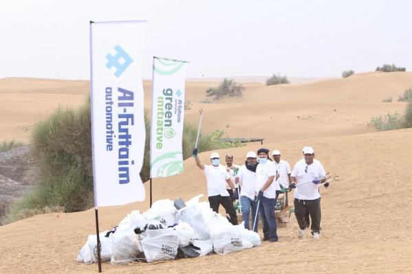 مجموعة الفطيم- قسم السيارات تنظم مبادرة بيئية من أجل مستقبل مستدام  حملة واسعة لتنظيف المناطق الصحراوية نتج عنها جمع 2,000 كيس من النفايات