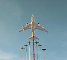 """""""الاتحاد للطيران"""" تحلق في أجواء مدينة زايد الرياضية احتفالاً بانطلاق مراسم ما قبل افتتاح الألعاب العالمية"""