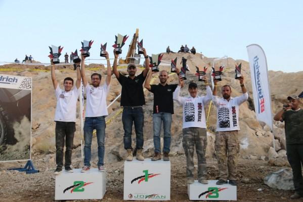 أبو جابر أولا  وتيمور ثانيا  والقرعان ثالثا ونشامى الأردن بطلا للفرق في سباق الدفع الرباعي الثالث