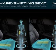 """مقاعد """"جاكوار لاند روڤر"""" متغيرة الشكل المستقبلية تعطي إيهاماً بالمشي أثناء القيادة"""