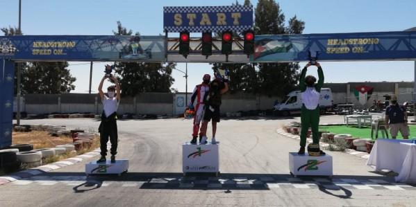 النجار والفايز وحبش أبطال فئات السينيور والجونيور والماسترز في سباق الكارتينغ الثاني