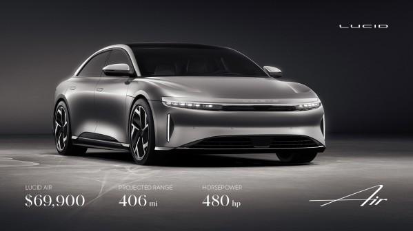 – لوسيد موتورز توسّع تشكيلة سيّاراتها الكهربائية الفاخرة مع نطاق يمتد حتى 406 أميال وقوّة 480 حصان وسعر يبدأ من 69,900 دولار أمريكي
