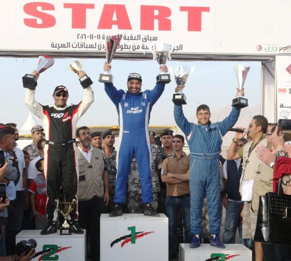 تيسير أولا والنجار ثانيا ووريكات ثالثا في بطولة الأردن لسباقات السرعة