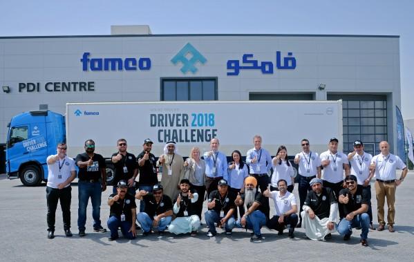'فامكو' تتوج أفضل سائق شاحنة في الإمارات عبر 'تحدّي السائقين'  للعام 2018 من تنظيم 'شاحنات فولفو'