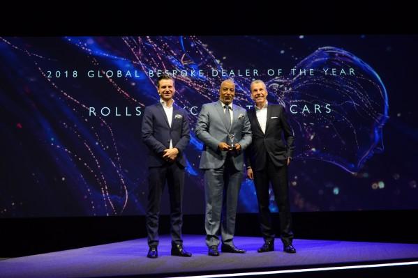 رولز-رويس موتور كارز دبي تفوز بجائزة مرموقة في جوائز الوكلاء العالميين لرولز-رويس موتور كارز