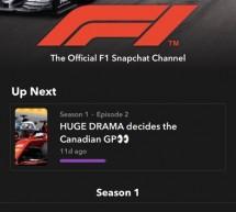 "Snapchat و""فورمولا 1″ توسعان اتفاقية المحتوى لتشمل أبرز الفعاليات عقب سباقات الجائزة الكبرى"