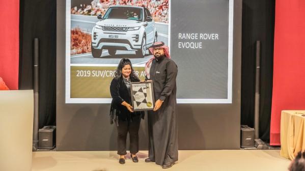"""رينج روڤر إيڤوك تفوز بجائزة """"أفضل سيارة رياضية متعددة الأغراض"""" ضمن جوائز  """"سيارة العالم العالمية للنساء"""""""