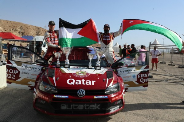 فوزٌ تاريخي: العطية يفوز برالي الأردن الدولي للمرة الـ 14 في مسيرته